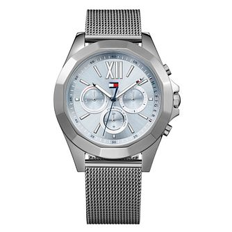 Tommy Hilfiger Ladies' Grey Mesh Bracelet Watch - Product number 8404437
