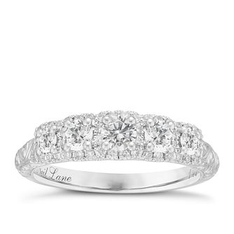 Neil Lane 14ct White Gold 0.69ct Five Stone Diamond Ring - Product number 8405832