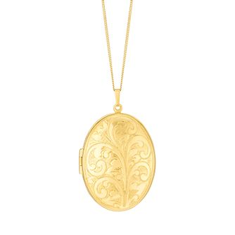 Rolled Gold Oval Locket - Product number 8406405