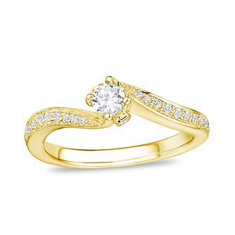 Tolkowsky 18ct Yellow Gold 0.33ct Diamond Ring - Product number 8411417