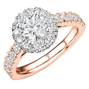 Tolkowsky 18ct Rose Gold 1.50ct Diamond Ring - Product number 8412154