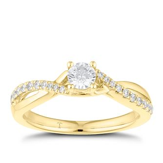 Tolkowsky 18ct Yellow Gold 0.38ct Diamond Solitaire Ring - Product number 8415358