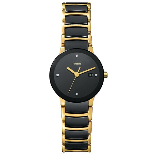 Rado Centrix ladies' steel and ceramic bracelet watch - S - Product number 8418713
