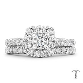 Tolkowsky Platinum 1ct II1 Diamond Bridal Set - Product number 8419191
