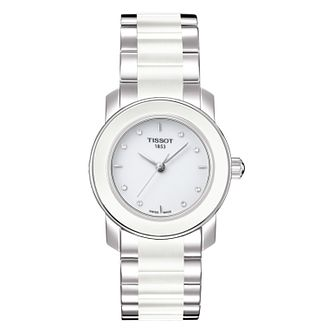 Tissot Cera Ladies' White Ceramic Diamond Watch - Product number 8424276