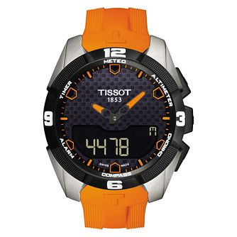 Tissot T-Touch Expert Solar Men's Orange Strap Watch - Product number 8424373
