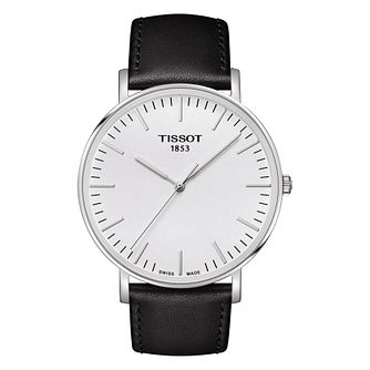 Tissot Everytime Men's Stainless Steel Black Strap Watch - Product number 8424802