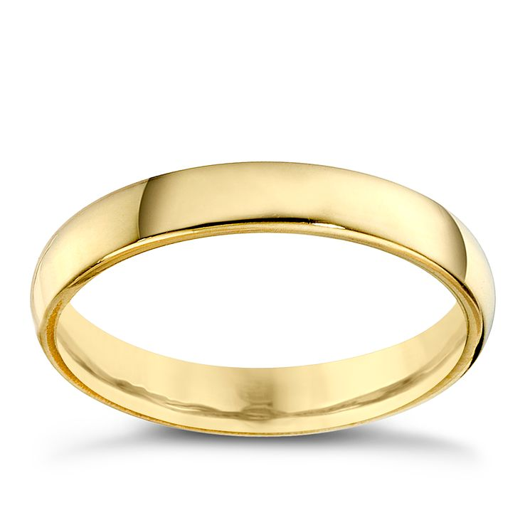 22ct Yellow Gold 3mm Extra Heavy Court Ring - Product number 8440255