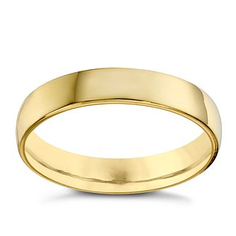 22ct Yellow Gold 4mm Extra Heavy Court Ring - Product number 8440506