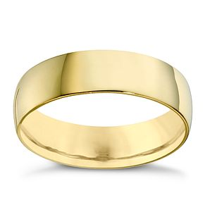 22ct Yellow Gold 6mm Extra Heavy Court Ring - Product number 8441049