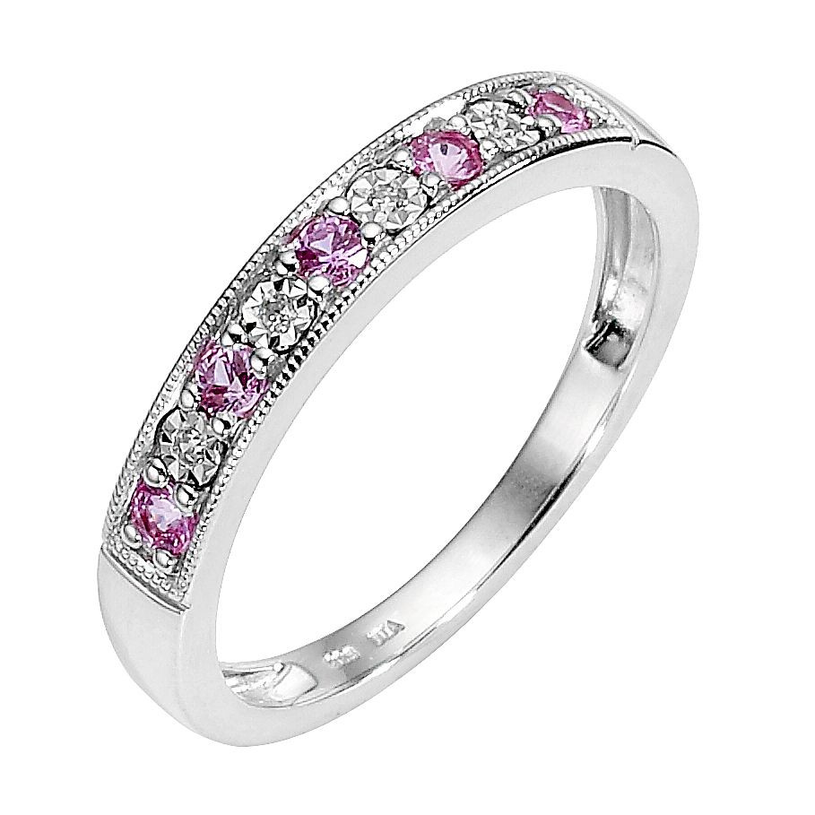 sapphire gold cocktail diamond fashion women rings wh pink for p ring