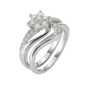 9ct White Gold 1/2ct Diamond Perfect Fit Bridal Set - Product number 8455473