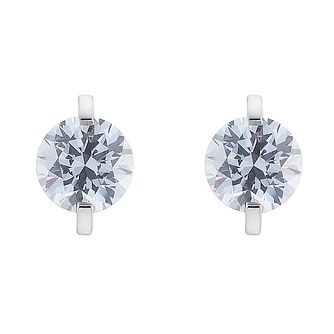 9ct White Gold Cubic Zirconia Stud Earrings - Product number 8467137