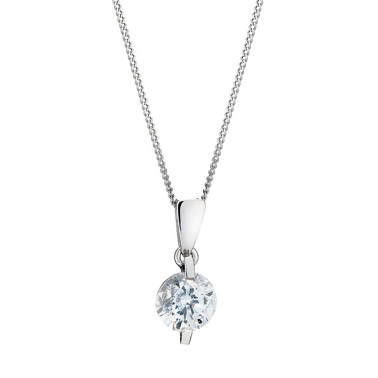 9ct white gold made with Swarovski Zirconia pendant - Product number 8467196