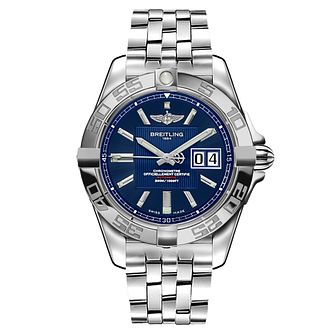 Breitling Galactic Men's Stainless Steel Blue Dial Watch - Product number 8468362
