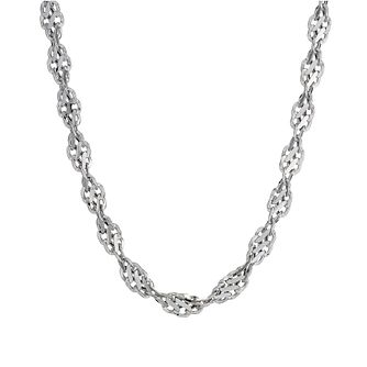 "9ct white gold cut out twist necklace 18"" - Product number 8468710"