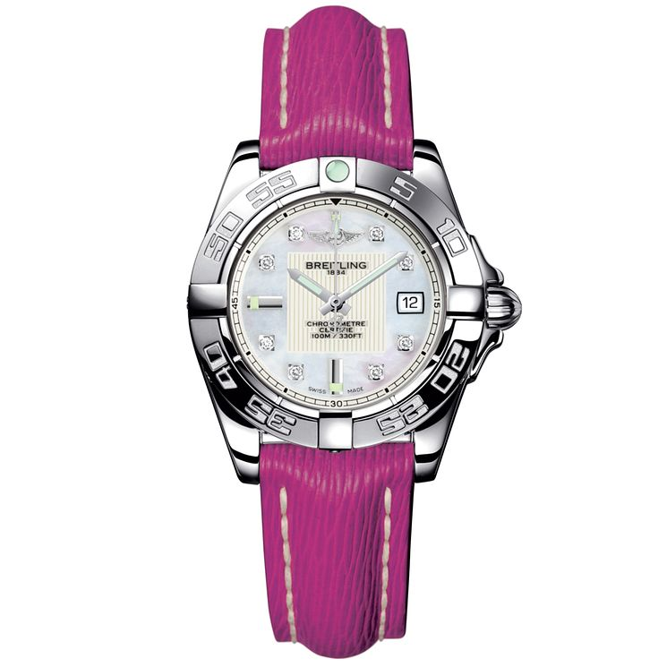 Breitling Galactic 32 ladies' pink leather strap watch - Product number  8468877