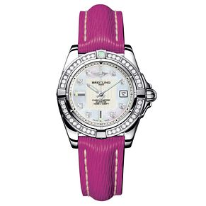 Breitling Galactic 32 ladies' diamond pink strap watch - Product number 8468893