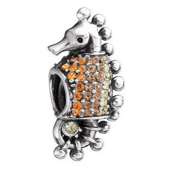 Chamilia - silver and Swarovski crystal set seahorse bead - Product number 8472882
