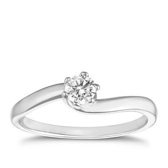 9ct white gold 1/4ct diamond solitaire - Product number 8489467