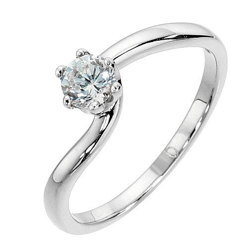 9ct white gold 0.33ct diamond solitaire - Product number 8489734