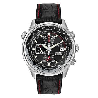 Citizen Red Arrows Black Leather Strap Chronograph Watch - Product number 8495564