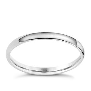 Platinum extra heavy weight d shape ring 2mm - Product number 8502552