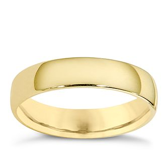 9ct yellow gold extra heavy court ring 4mm product number 8503583 - Gold Wedding Ring