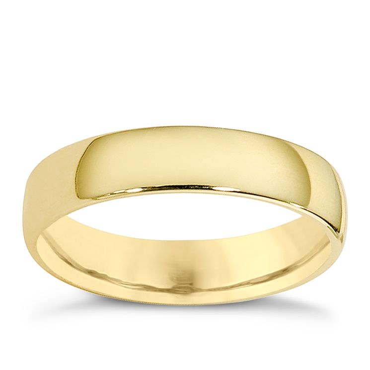 9ct yellow gold extra heavy court ring 4mm - Product number 8503583