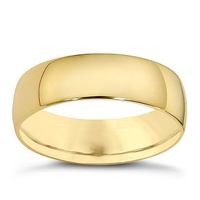 18ct yellow gold extra heavyweight court ring - Product number 8507368