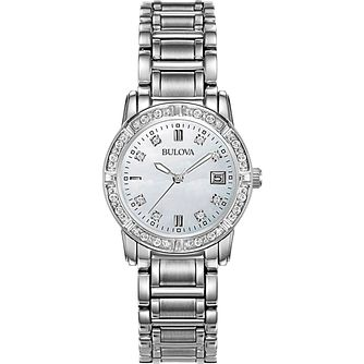 Bulova Ladies' Diamond Dial Stainless Steel Bracelet Watch - Product number 8510296