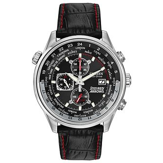 Citizen Eco-Drive Red Arrows men's black strap watch - Product number 8513600