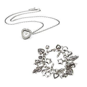 Ladies' Watch And Charm Bracelet Set - Product number 8526214