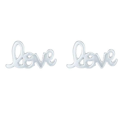 Sterling Silver Love Stud Earrings - Product number 8558930