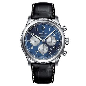 Breitling Navitimer 8 B01 Men's Black Leather Strap Watch - Product number 8559953