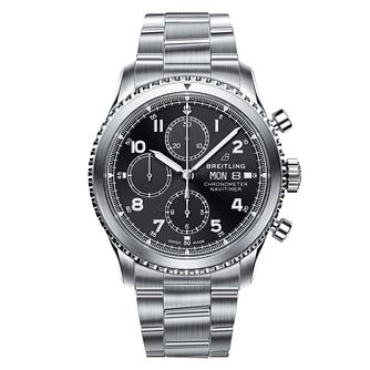 Breitling Navitimer 8 Men's Black Chronograph Bracelet Watch - Product number 8560722
