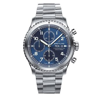 Breitling Navitimer 8 Men's Blue Chronograph Bracelet Watch - Product number 8561036