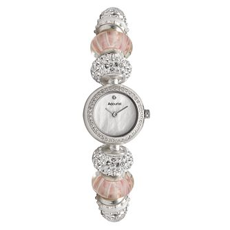 Charmed By Accurist Pink Loaded Charm Watch - Product number 8573832