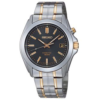 Seiko Men's Two Tone Kinetic Watch - Product number 8584303
