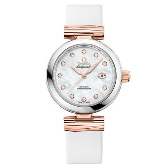 Omega Ladymatic Ladies' Rose Gold Plated Diamond Strap Watch - Product number 8588872