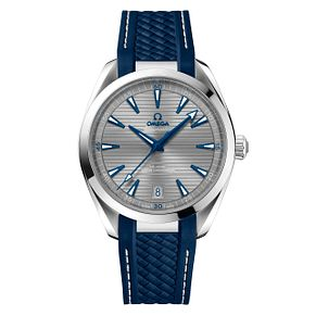 Omega Seamaster Aqua Terra Men's Steel Blue Strap Watch - Product number 8588910