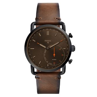 Fossil Q Commuter Men's Brown Hybrid Smartwatch - Product number 8590273
