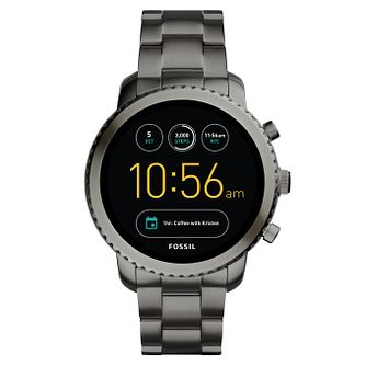 Fossil Q Explorist Grey Ion Plated Smartwatch - Product number 8590494