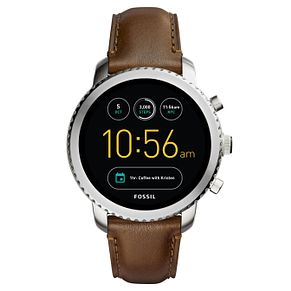 Fossil Q Men's Explorist Stainless Steel Brown Smartwatch - Product number 8590516