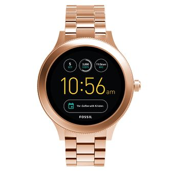 Fossil Q Ladies' Venture Rose Gold Tone Smartwatch - Product number 8590532