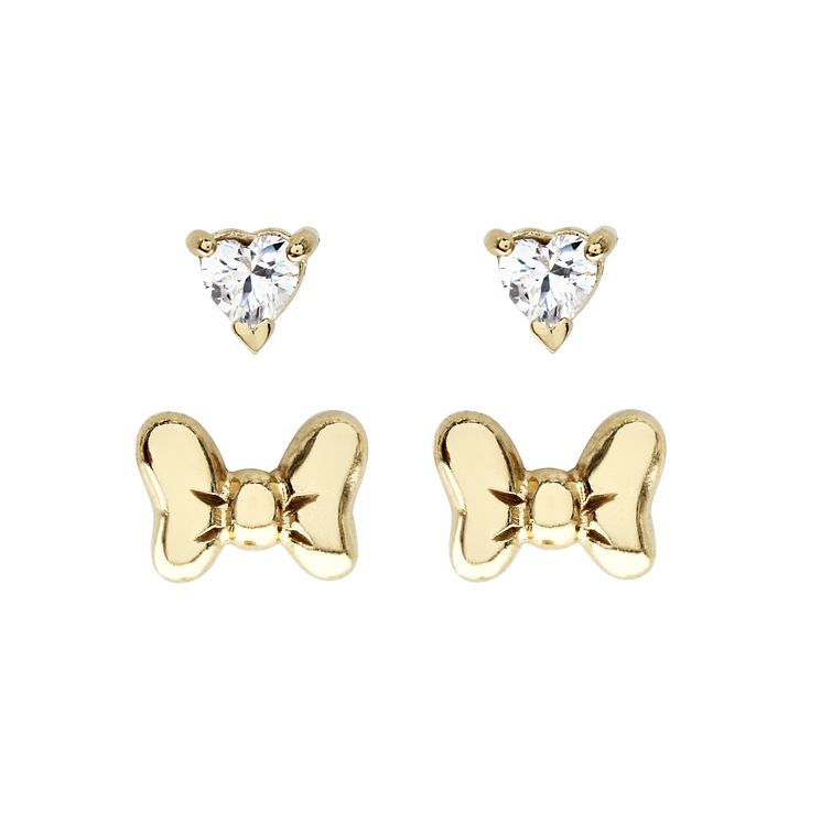 Disney Children's Minnie Mouse Gold Plated Earring Set - Product number 8590699