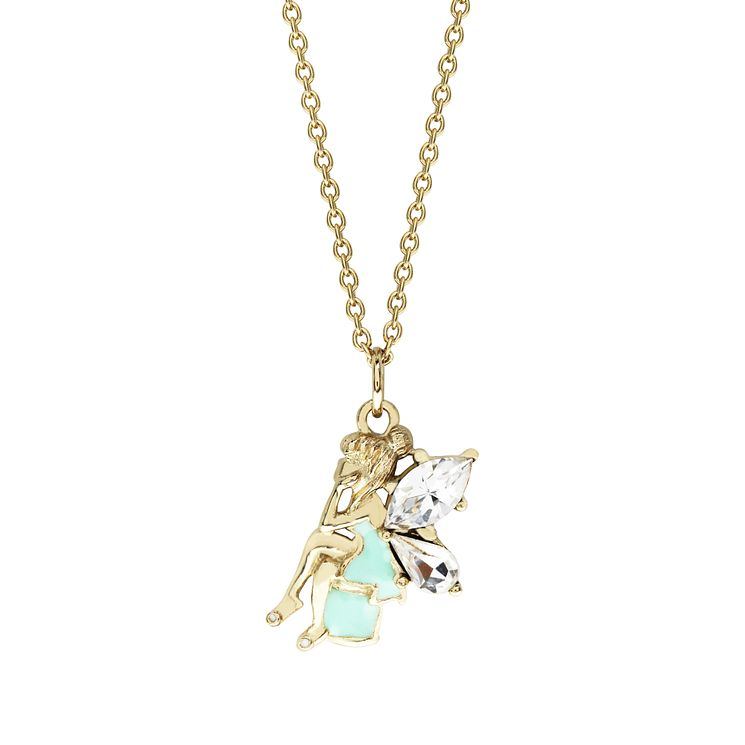 Disney Children's Tinker Bell Gold Plated Crystal Pendant - Product number 8590818