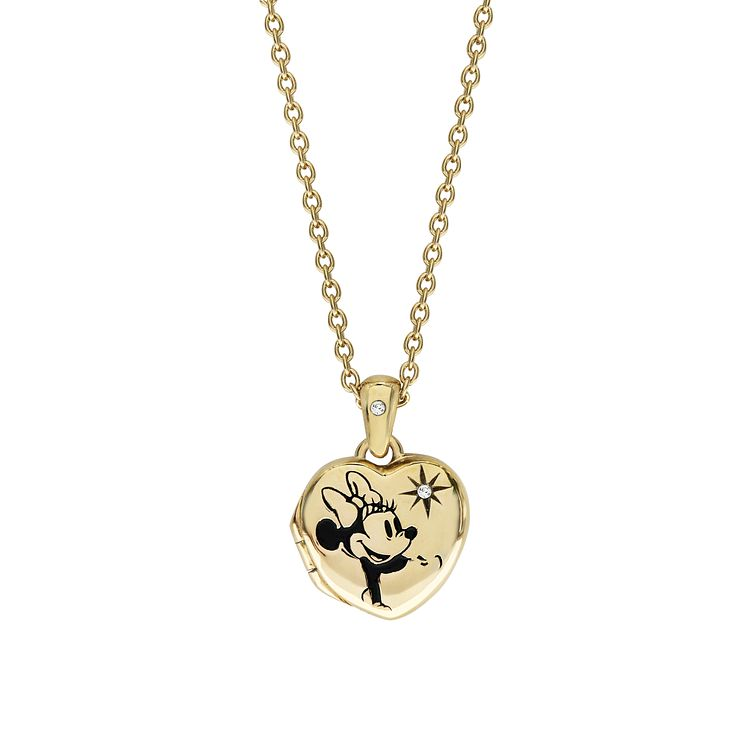 Disney Children's Minnie Mouse Gold Plated Heart Locket - Product number 8591199