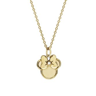 Disney Children's Minnie Mouse Gold Plated Crystal Pendant - Product number 8591210