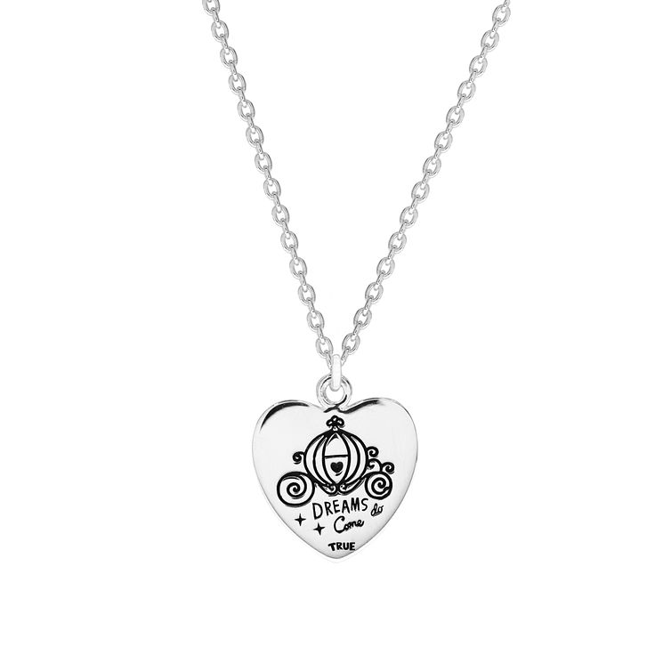 Disney Children's Cinderella Sterling Silver Dreams Pendant - Product number 8591237